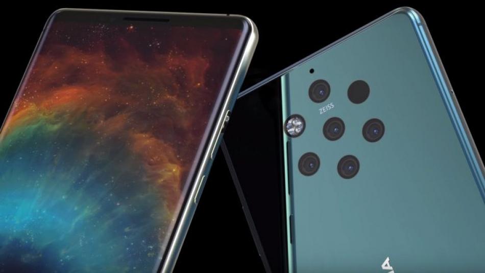 Nokia 9 est un super design et 5 caméras arrière